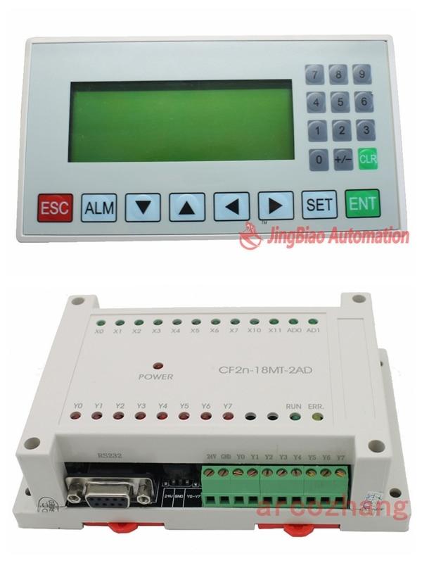 display screen HIM MD204L OP320-A + FX2N 18MT 2AD 10 input/8 Transistors output