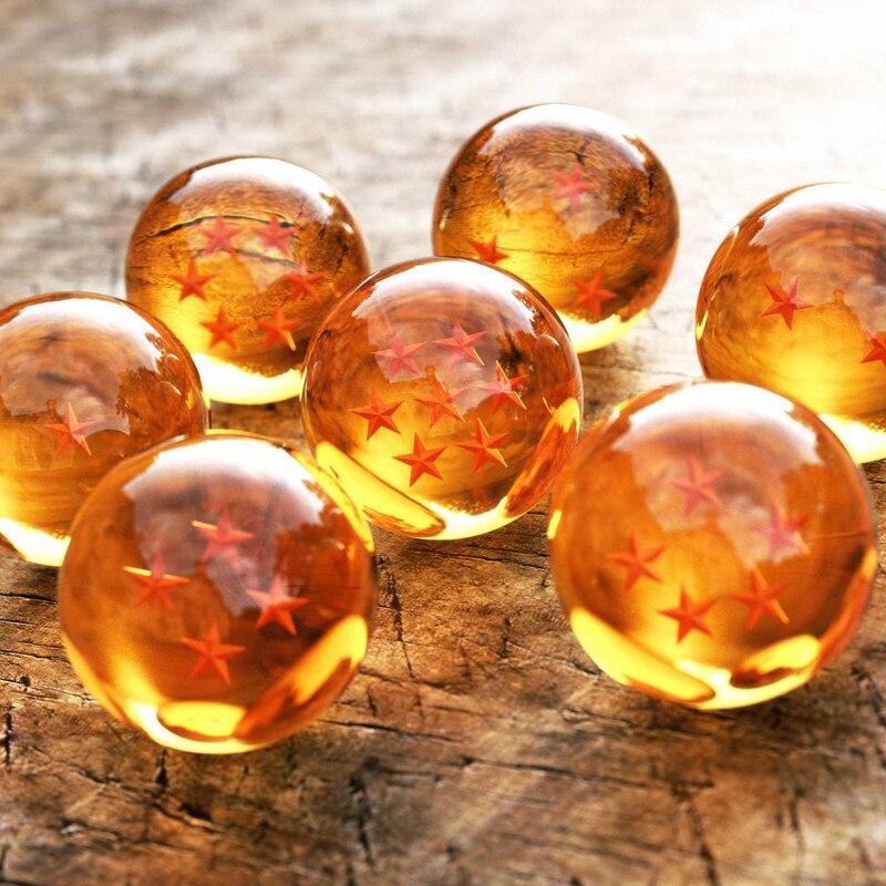 все цены на Anime Dragon Ball 7 Stars Balls 7.5cm Resin Action Figure Toys Dragon Ball Z Cartoon Fans Collection онлайн