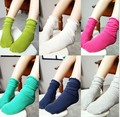 No socks section at the bottom of cotton socks it for 2 years old to 13 years old children, 30 centimeters of socks