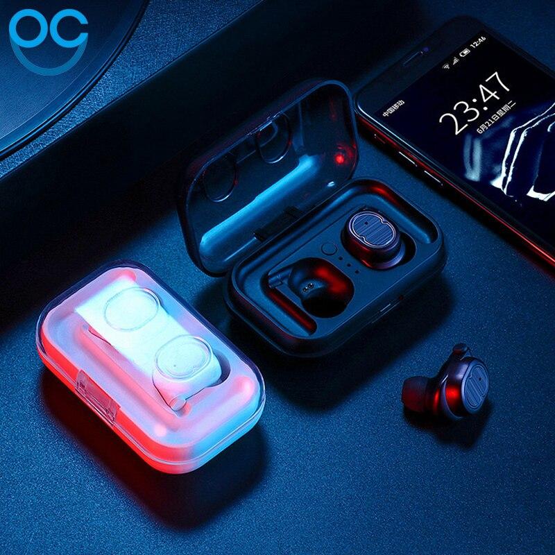 OGV Stéréo Musique Écouteurs Binaural appel Bluetooth 5.0 Casque Écouteurs de Sport Jogging Intra-auriculaires Pour iPhoneSE 7 8 Xiaomi Sony