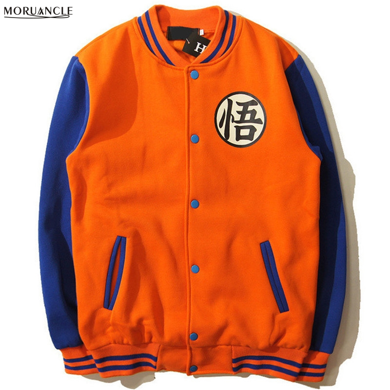 New Japanese Anime Dragon Ball Goku Varsity Jacket Autumn Casual Sweatshirt Hoodie Coat Jackets Brand Baseball