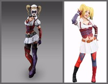 Harley Quinn Dresses Batman Arkham City COSplay Outfit Costume Sexy Skirt Summer Fancy Party Props