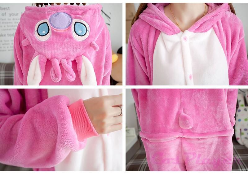 pink stitch pajamas