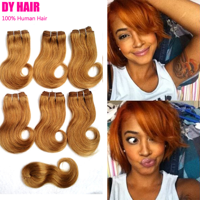 Short Hair Brazilian Weave 8 Inch Tissage Bresilienne Wave Avec ...