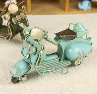 Lovely Mini Motorcycle Model Metal Material Furnishing Articles Vintage Home Decoration Manual Birthday Gift Model