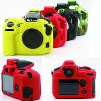 Sac en caoutchouc de Silicone souple pour Nikon D810 D850 D7500 D3400 D3500 D750 D7100 étui de protection en caoutchouc pour appareil photo reflex numérique