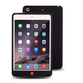 7.9'' Solid Soft Rubber Protective Coque for iPad mini Silicon Case Suger Color Shockproof Cover 1 2 3 - discount item  25% OFF Tablet Accessories