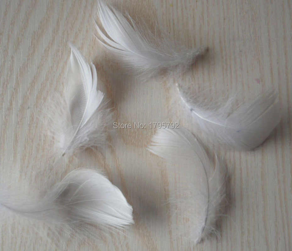 Wholesale White color 25 pcs high quality natural goose feathers,plumes 5-8cm for DIY jewelry earring crafts decoration plumas