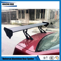 Wholesale 135cm Universal Auto Spoilers and Wings GT Truck Racing Lightweight Aluminum Rear Wing Spoiler Rear Trunk factory