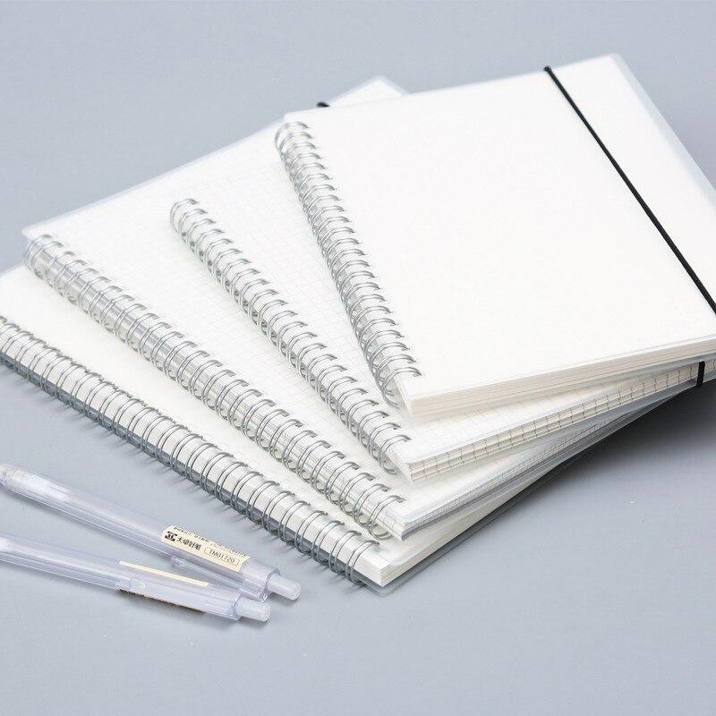 Spiral Loose-leaf Blank Sketchbook Notebook for Sketch Drawing Frosted Transparent Stripe Grid Notepad Planner Office SchoolSpiral Loose-leaf Blank Sketchbook Notebook for Sketch Drawing Frosted Transparent Stripe Grid Notepad Planner Office School