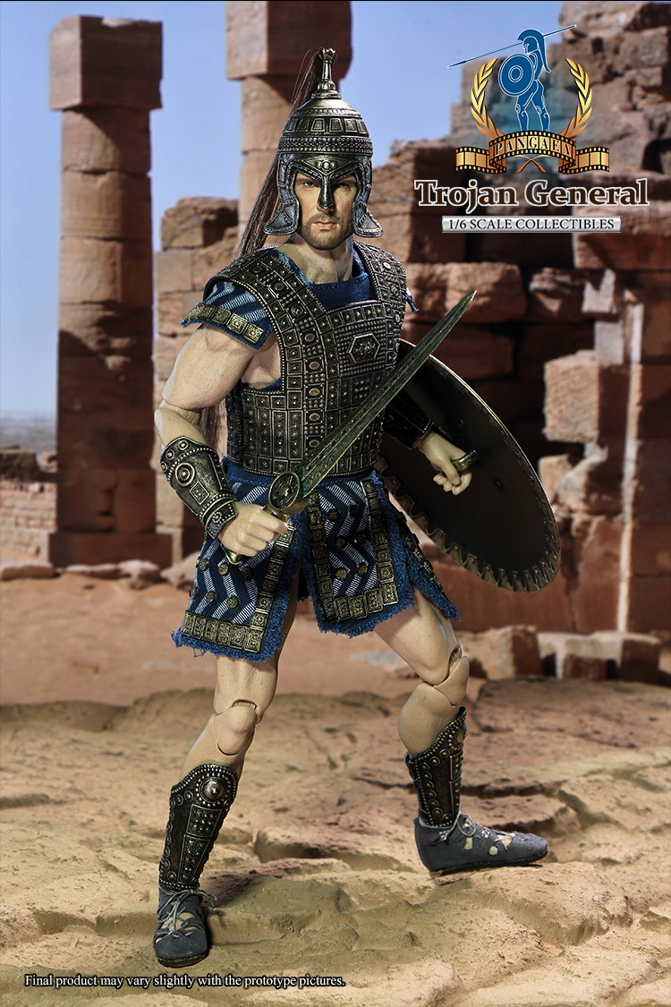 PANGAEA TOY 1/6th scale figure doll Plastic model toy Ancient Greece Troy Trojan General 12 Action figure Collectible Figure