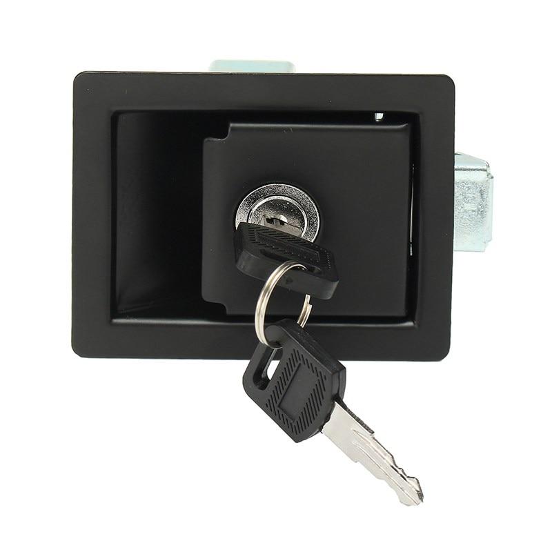 MTGATHER RV Car Paddle Entry Door Lock Latch Handle Knob Deadbolt Trailer + Keys Approx 9x68x4cm