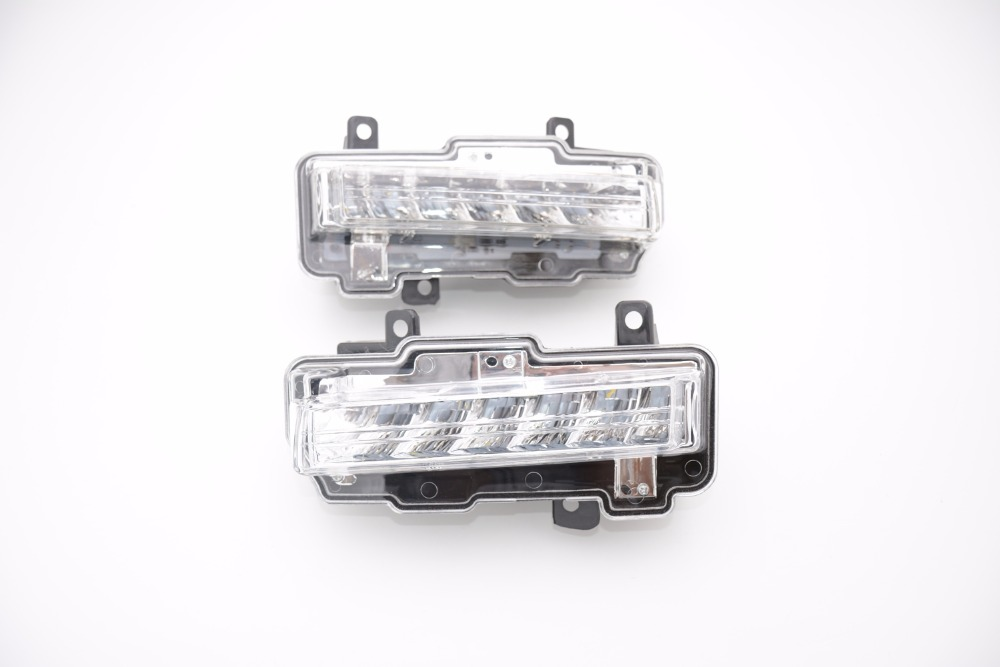 1Pair Car Styling Waterproof Daytime Running Light DRL daylight Fog Lamp Driving Lights For Mitsubishi Pajero 2015-2016