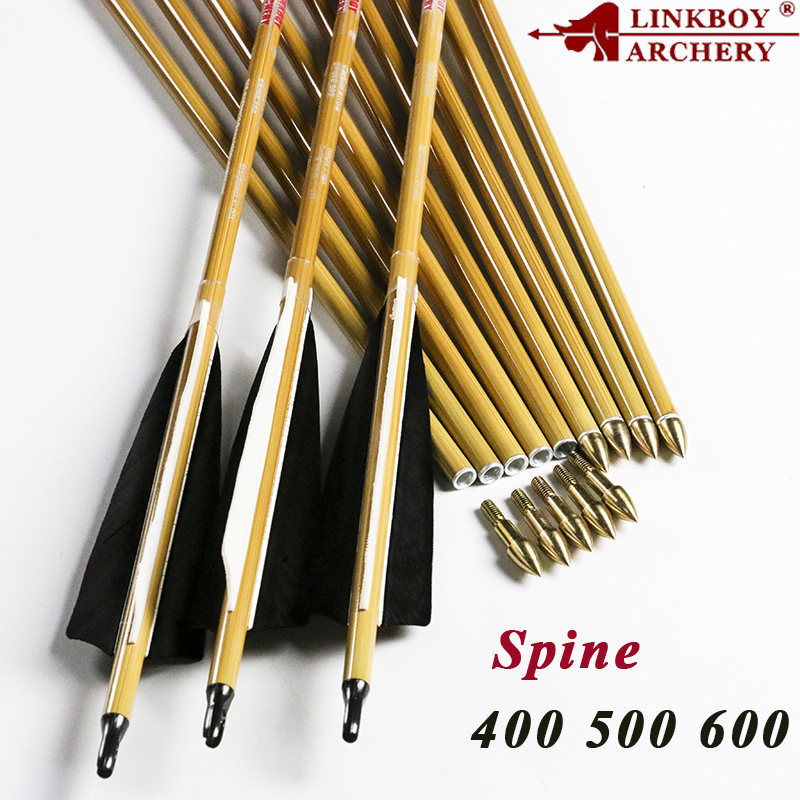 Linkboy Archery 6/12PCS Carbon Arrow Shaft ID6.2 Turey Feather Compound Recurve Bow Hunting Archery Arrows 32'' CUT SERVICE 6 12pcs linkboy archery carbon arrow shaft 32inch 5 turkey feather arrow nock compound recurve bow hunting arrows shooting