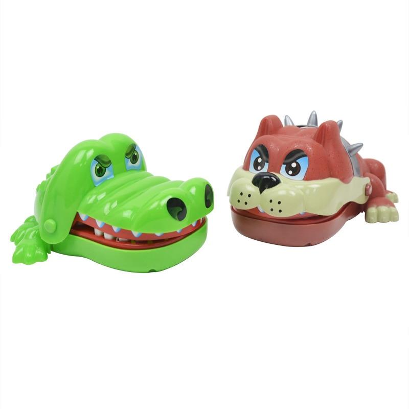 Large Crocodile Dog Shark Mouth Dentist Bite Finger Game Funny Novelty Gag Toy for Kids Children Play Fun Birthday gift