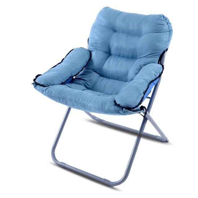 Dobrável Macio Sofá Preguiçoso Cadeira Reclinável Único Engrossado Almofada de Pelúcia Curto Macio Dobrável Lazer Cadeira Do Computador Dormitório Casa