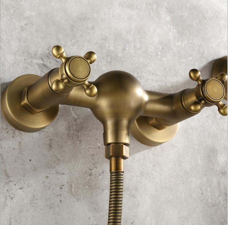 European Style Retro Simple Shower Shower Set Bronze Spray Faucet ...