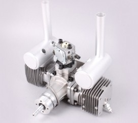 MLD 70CC Twin Cylinder Gas Engine updated version with new CDI and New Metal Reed Valve MLD70 for RC Gasoline Airplane dla116 inline cnc processed inline gasoline engine petrol engine 116cc for gas airplanes with double cylinders