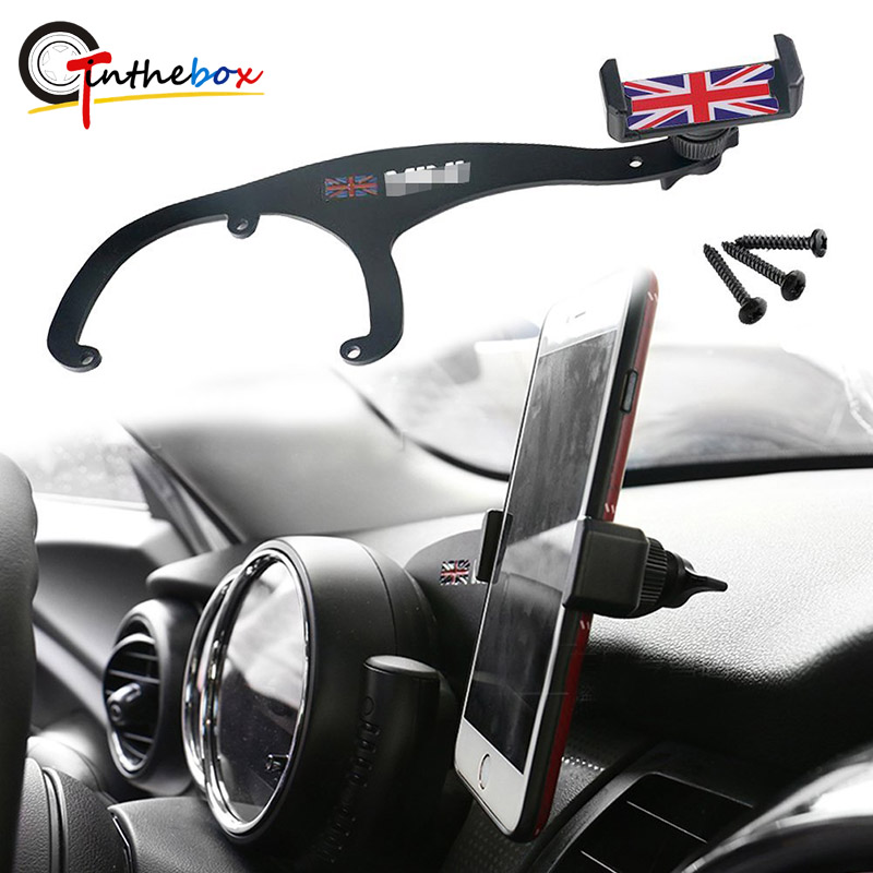 Grey Jack QIDIAN Smart Phone Stand for Mini Countryman F60 for Mini F56 F55 Clubman F54 Car Folding Rotatable Non Slip Mobile Phone Holder Design Holder Accessories