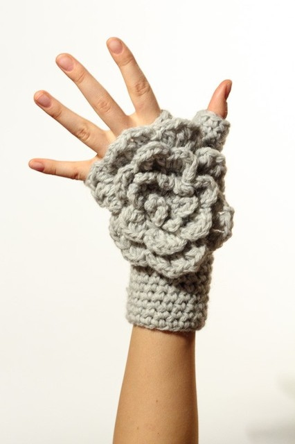 Wholesale fingerless hand warmers with big flower, Hand jewelry, Classic, Sexy Yoga, Bracelet , Dance, Steampunk 2pair/lot