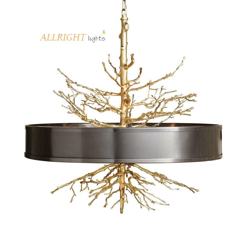 New model hanging lights gold black color tree design modern lamp home decoration for bedroom livingroom