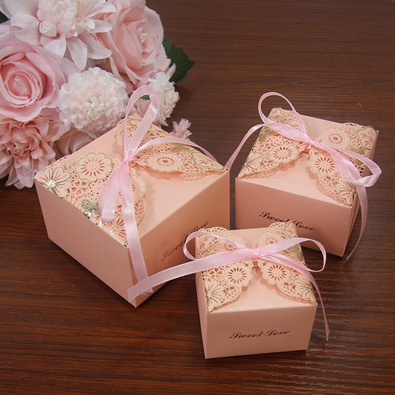 Wedding Gift Boxes: AVEBIEN Wedding Favor Box Sweet Gift Bags Candy Boxes For