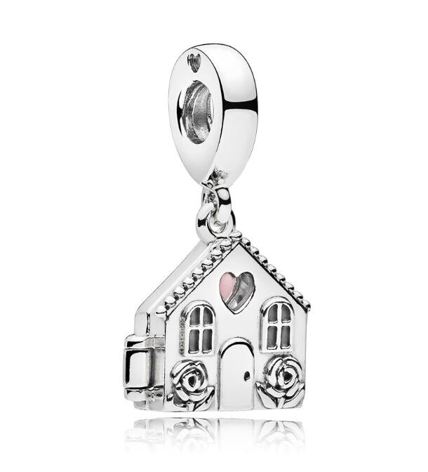 Real 925 Sterling Silver Bead Perfect Home Pendant Charm Fit Original Women Pandora Bracelet & Necklace Diy Women Jewelry