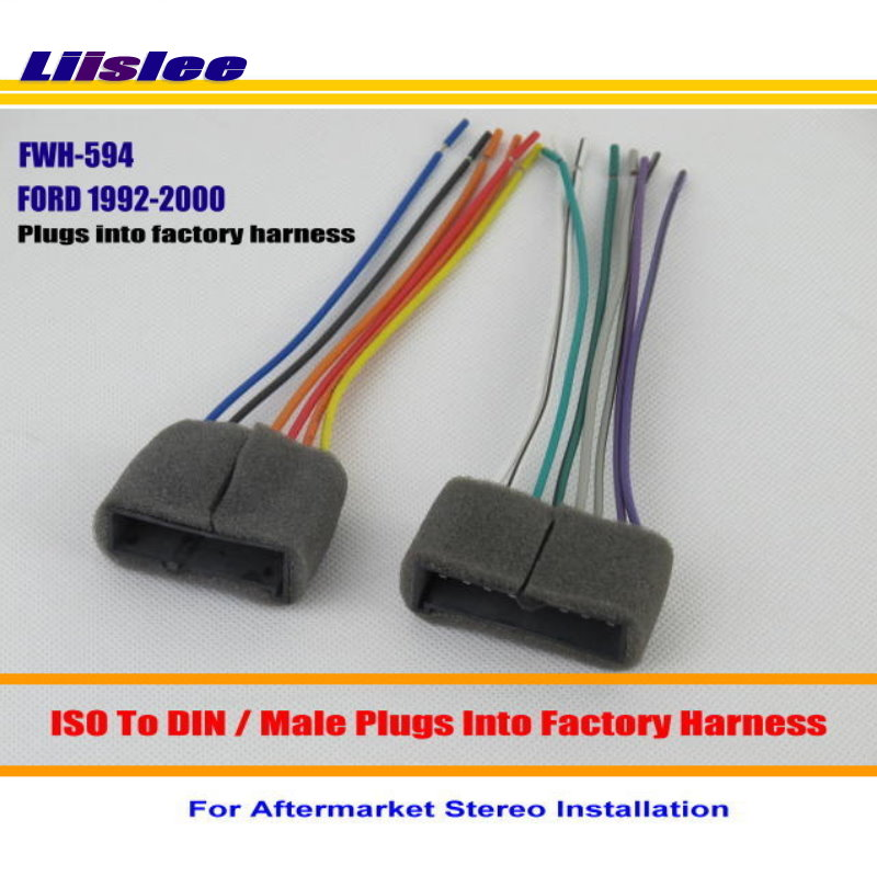 Liislee Car Radio CD Player TO Aftermarket Stereo DVD GPS Wiring Harness Wire Adapter For FORD liislee car radio cd player to aftermarket stereo dvd gps wiring  at highcare.asia