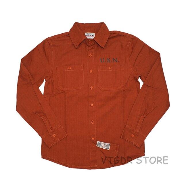 U S N Navy Shirt Vintage Men S Long Sleeve Casual Workwear Military