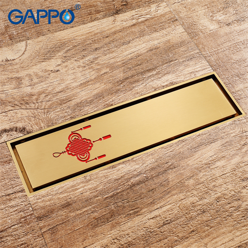 golden copper anti odor square bathroom accessories sink floor bathtub shower drain cover luxury sewer filter k 8803 GAPPO drains bathroom floor cover drains square Gold anti-odor Bathroom Floor Drainer shower drain strainer