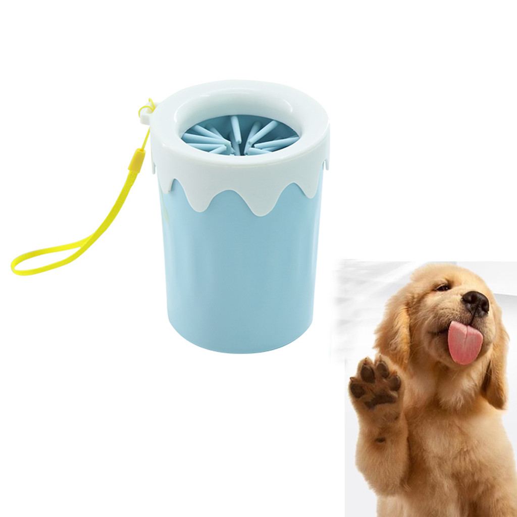 New <font><b>Dog</b></font> <font><b>Paw</b></font> <font><b>Cleaner</b></font> Pet Cleaning Portable Brush Cup <font><b>Dogs</b></font> <font><b>Cleaner</b></font> Washer Feet <font><b>Dog</b></font> Foot Wash Tools Guante Cepillo Gato image