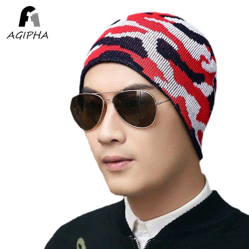 Brand New Army Camouflage Pattern Knitted Skullies Beanie Hats For Women Men Autumn Winter Knitting Hat Caps Type NN02 beanie