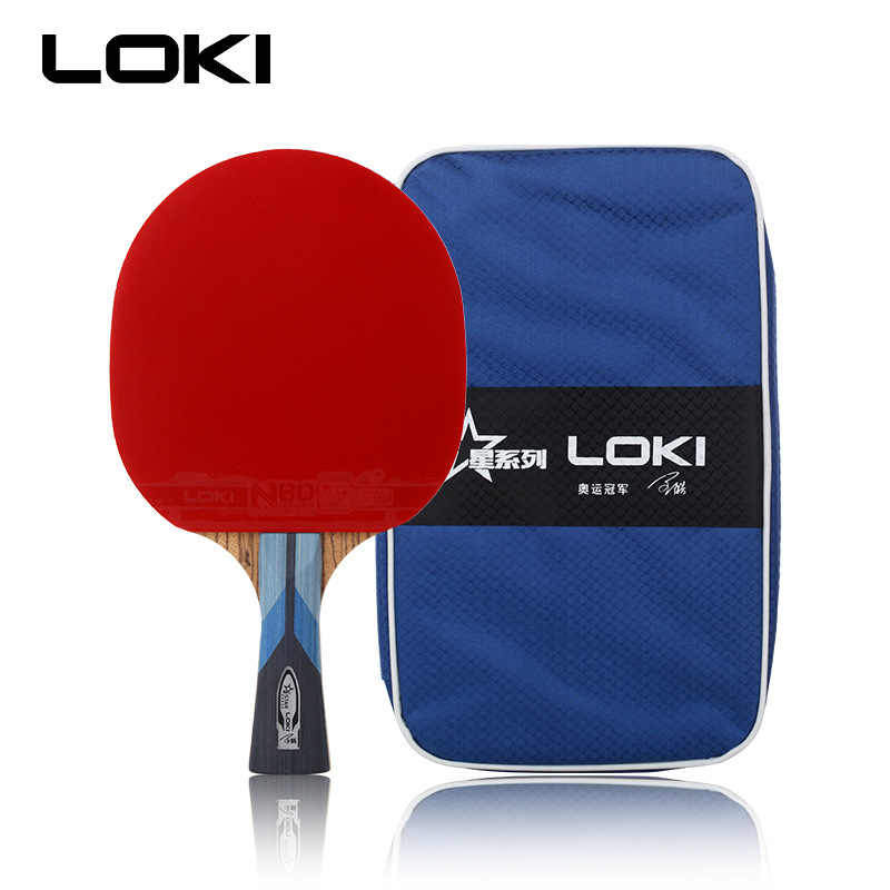 LOKI 5 Star Zebra Wood Carbon Table Tennis Racket Professional PingPong Bat Fast Attack Ping Pong Racket with Bag