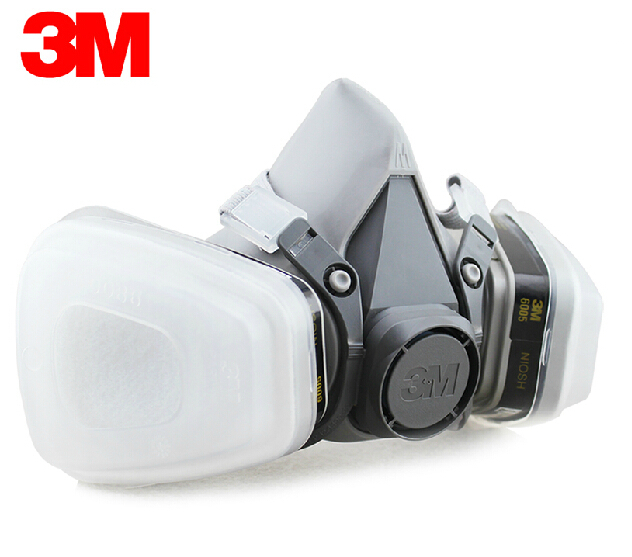 ФОТО  3M 6200+6005 Reusable Half Face Mask Respirator 3M Formaldehyde/Organic Vapor Cartridge 7 Items for 1 Set LT004