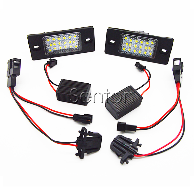 1Pair Car LED number License Plate Light 12V SMD LED lamp Car Styling For Porsche Cayenne For VW Passat Touareg touring Tiguan