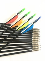 12pk Fiberglass Arrows In 5 Color 31'' Lenght  OD 6mm for Recurve Bow Arrow or Long Bow  Hunting Bow & Arrow     -