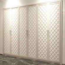 OPPEIN Горячая кожа 6 распашных дверей шкаф YG11227