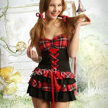High quality school student uniform costume sexy girl fantasia quente hot erotic baby doll lingerie dress