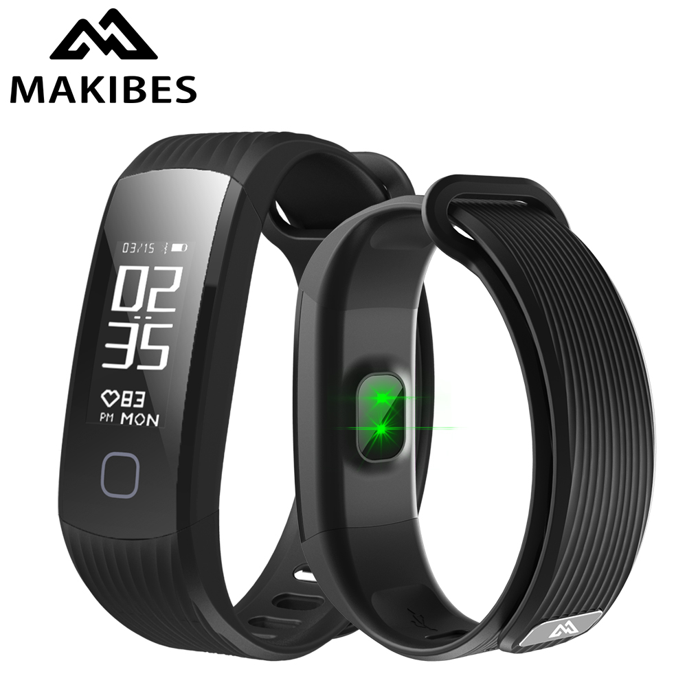 11.11 Makibes HR1 Bluetooth 4.0 Smart Bracelet Fitness Activity Tracker Continuous Heart Rate Monitor Wristband For Android ios image