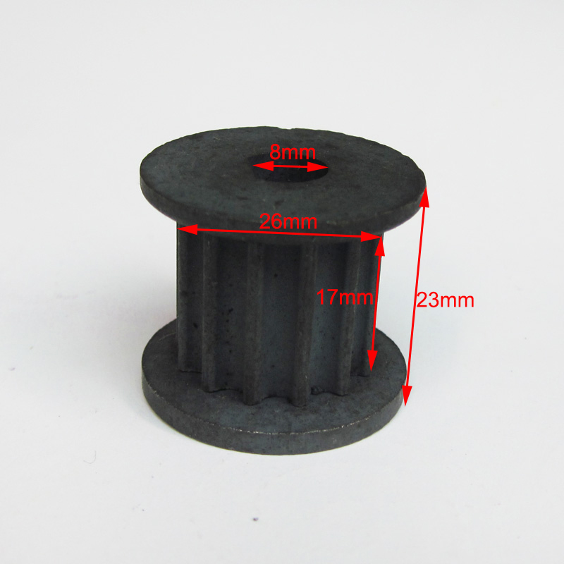 XLYZE 13 Tooth Scooter Electric Motor Front Gear Pinion Sprocket Belt Pulley fit 8mm Shaft Electric Motors with 5mm Belt Drive