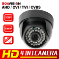 HD 720P 1080P AHD Camera Hybrid CVI TVI CVBS 4 IN 1 With OSD Menu Free Switch IR 20M NightVision 1.0MP 2MP CCTV Security Camera