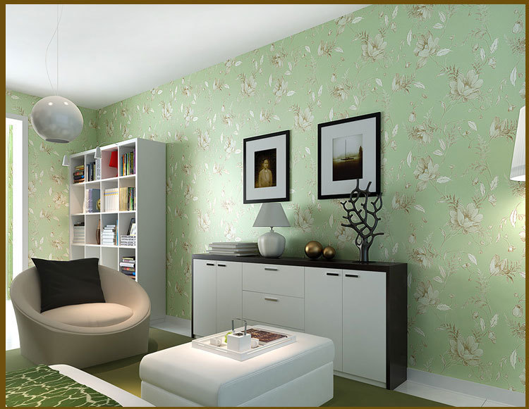 Feature wall wallpaper living room home design for Feature wall wallpaper ideas living room