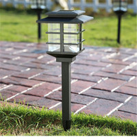 Outdoor LED Solar Energy Pin Lamps Waterproof Garden Lawn Park Courtyard Cottage Corridor Decorative Lighting Retro