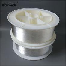 משלוח חינם סיבים אופטיים 1mm סוף אור PMMA פלסטיק סיבים אופטי כבל Spool 1500m עבור סיבים אופטי מנורה כבל