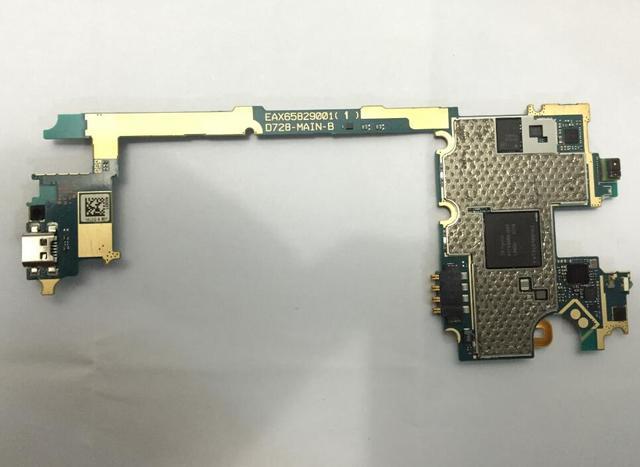 100% trabalho 8g para lg g3 mini d728 mainboard, original para lg g3 mini d728 teste motherboard 100% & livre grátis
