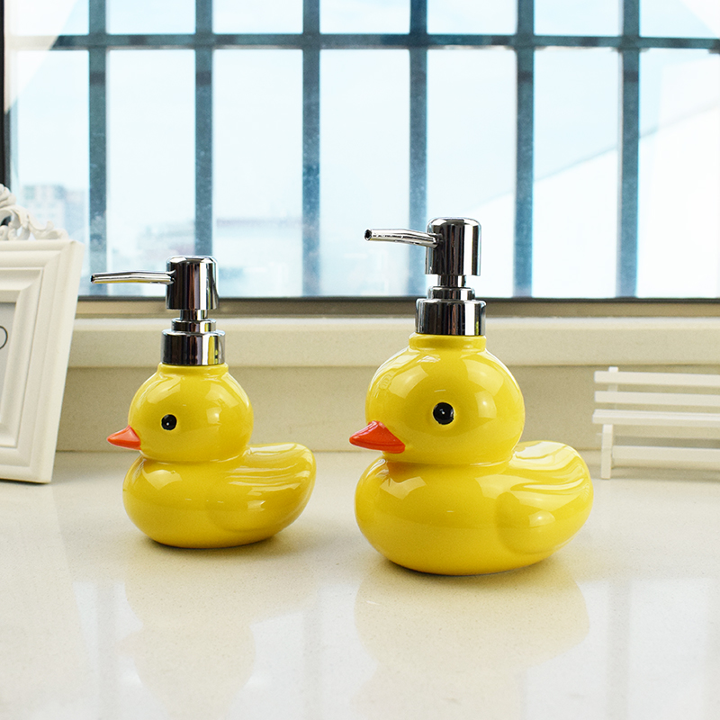 buy newyearnew duck ceramic washing liquid bottling soap dispenser emulsion creative bathroom accessories set home decoration gift from
