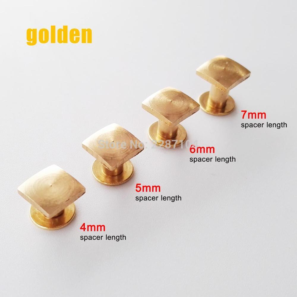 9mm Diamond Cut Nail Head Studs in Gold NEW 36 pcs