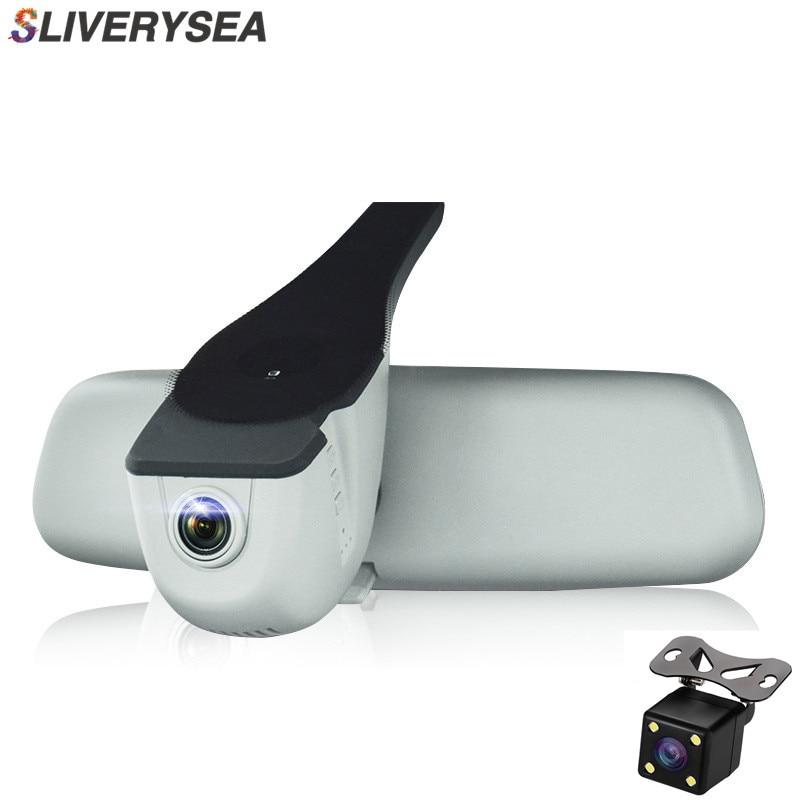 Car DVR Dash Cam Registrator Dual Camera Full HD 1080P Night Vision Video Recorder WiFi For Audi A1 A3 A4L A5 A6 Q3 Q5 bigbigroad for audi a3 a4 a4l a5 a6 q3 q5 q7 2016 2017 2018 car dvr video recorder wifi camera car black box dashcam fhd 1080p
