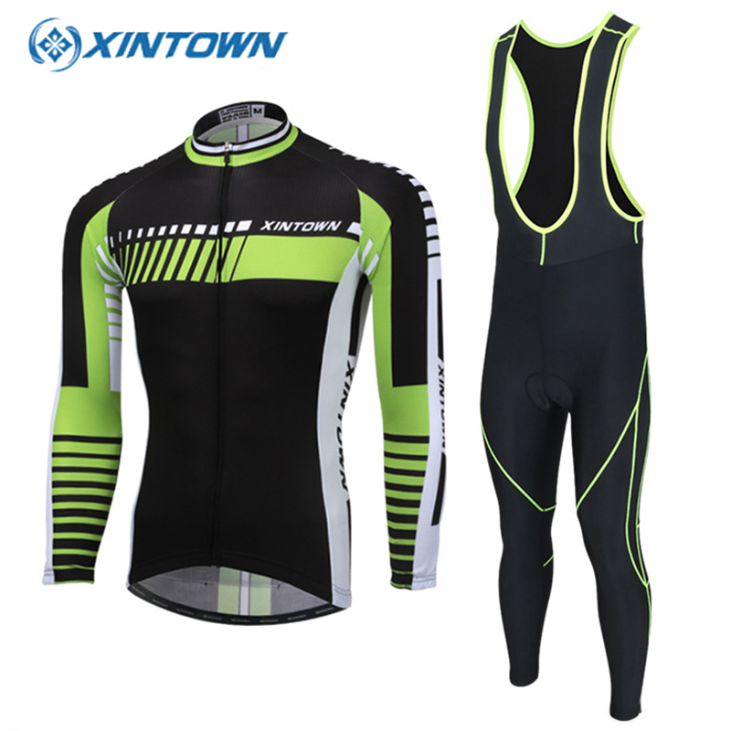 XINTOWN Spring Men Cycling Jerseys Sets MTB Wear Mountain Bike Clothing Ciclismo Long Sleeve Bicycle Sportswear Ropa Ciclista 2017 new spring long sleeve man uv protect 3d gel padded cycling jerseys mountain bike breathable quick dry riding clothing sets