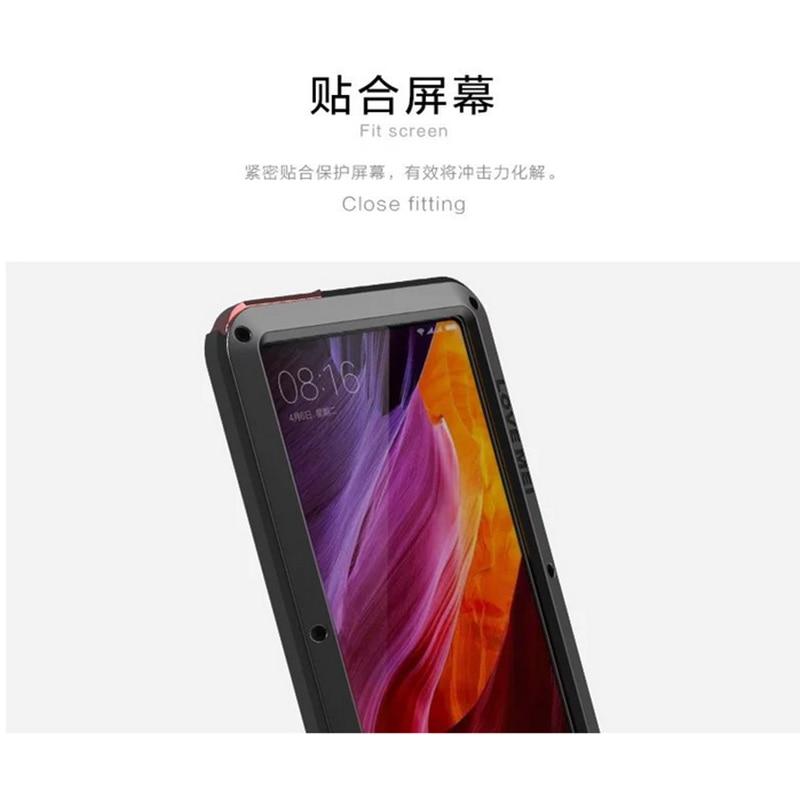 Coque de téléphone Love Mei pour xiaomi mi X housse étanche antichoc pour xiaomi mi x Gorilla Glass xio mi x étui - 6